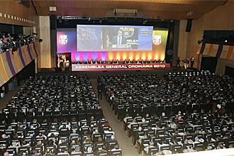 Aspecto general de la asamblea del Barcelona.