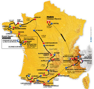 Recorrido del Tour 2011
