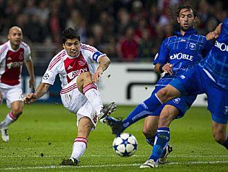 Luis Su�rez fue el autor del segundo gol del Ajax