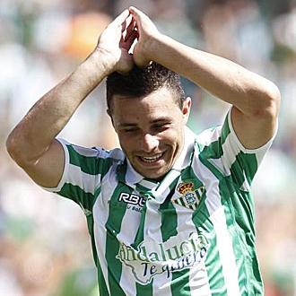 Rub�n Castro, delantero del Betis.