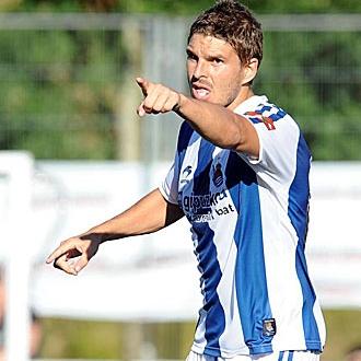 Paco Suti, en un partido con la Real Sociedad.