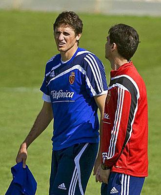 Edmilson y Gay durante un entrenamiento.