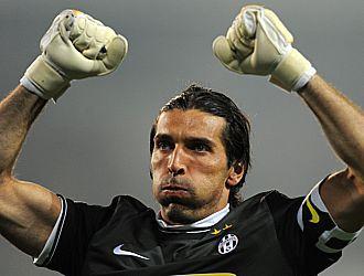 Buffon, en un partido de la serie A italiana