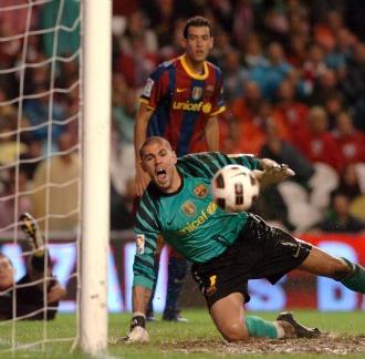 Vald�s, en un partido del Barcelona
