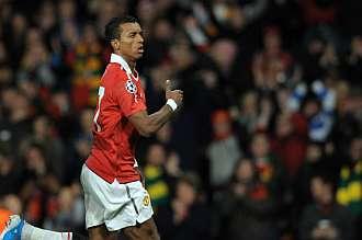 El portugu�s Nani celebra el �nico gol del encuentro