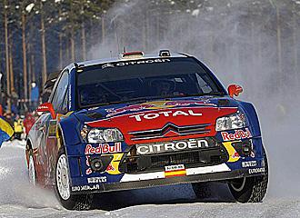 El Citroen de Dani Sordo, en el Rally de Suecia.