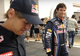 Vettel y Webber en el circuito de Yeongam.