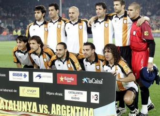 Una imagen de la selecci�n catalana