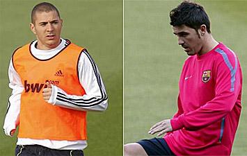 Karim Benzema y David Villa