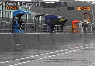 La lluvia dejó impracticable la pista de Estoril.