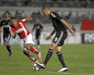 Benzema, en el duelo de ida ante el Murcia