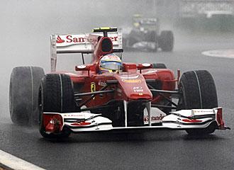 Fernando Alonso, dentro de su Ferrari.