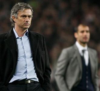 Mourinho y Guardiola, en el Camp Nou