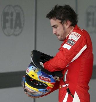 Fernando Alonso, tras la calificaci�n de Interlagos