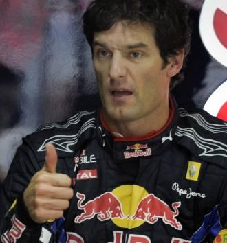 Webber, en el 'box' de Red Bull