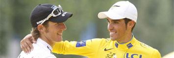 Schleck y Contador