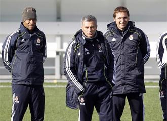 Jos� Mourinho, en un entrenamiento.