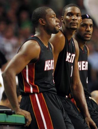 Wade, Bosh y LeBron