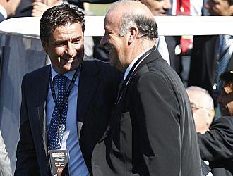 Michel y Vicente del Bosque, en un acto organizado por la Federación