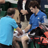 Andy Murray atendido en Par�s