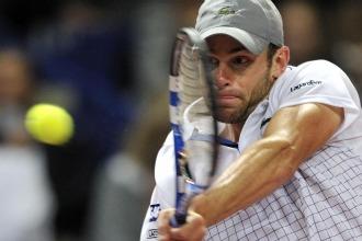 Andy Roddick durante su partido ante Jarkko Nieminen.