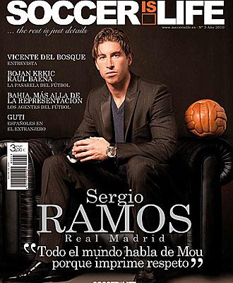 Sergio Ramos, en la portada de 'Soccer is Life'