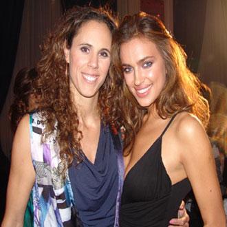 Amaya Valdemoro posando junto a la modelo Irina Sheik, novia de Cristiano Ronaldo