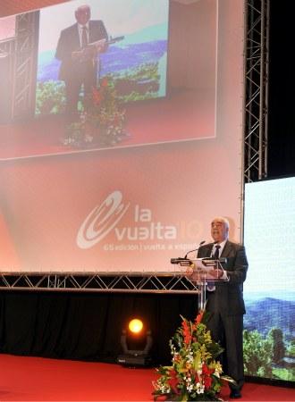 Imagen de la presentación, el año pasado, de la Vuelta a España 2010 en Sevilla