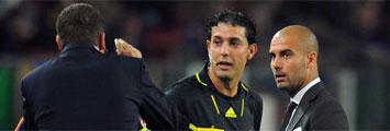 Discusi�n entre Guardiola y Garrido