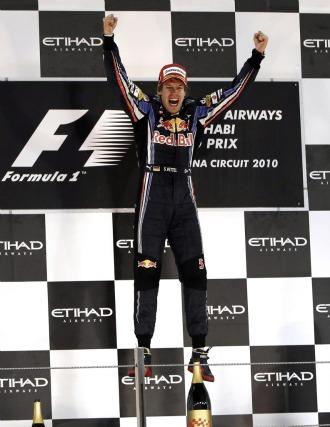 Vettel, a en el podio de Abu Dabi