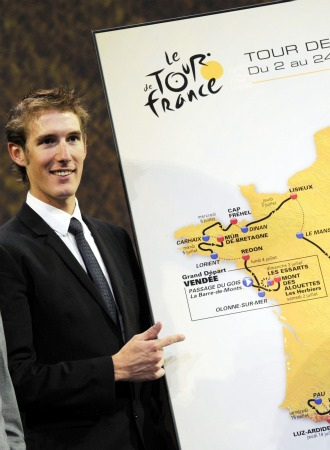 Andy Schleck en la presentaci�n del Tour 2011