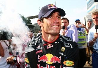 Webber quiso ver el lado positivo de la derrota.