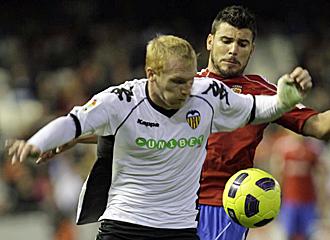 Mathieu durante un partido frente al Zaragoza.