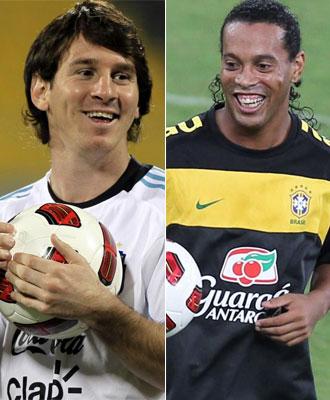 Messi y Ronaldinho se ver�n las caras en Qatar