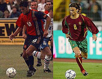 Kiko y Joao Pinto, con las camisetas de sus respectivas selecciones.