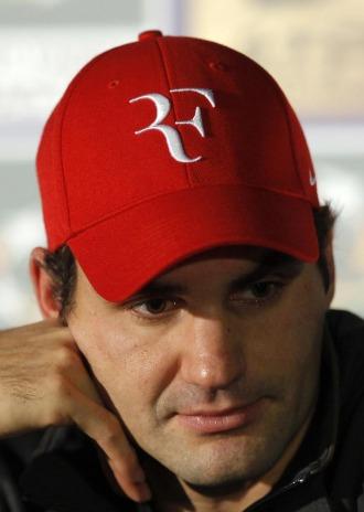 Roger Federer durante una rueda de prensa en Par�s.