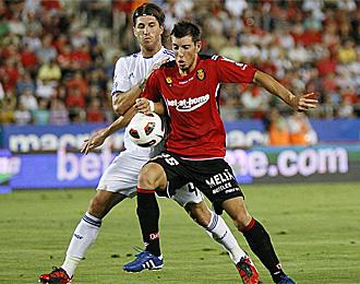 Sergi Enrich, en el partido contra el Madrid esta temporada