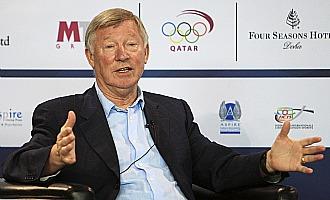 Ferguson, en la conferencia de prensa ofrecida en Doha