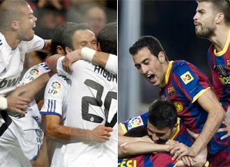 Real Madrid y Barcelona.