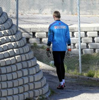 De Gea, tras un entrenamiento con el Atl�tico de Madrid