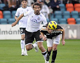 Marcos M�rquez, en un partido con el Salamanca