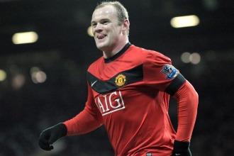 Rooney celebrando un gol.