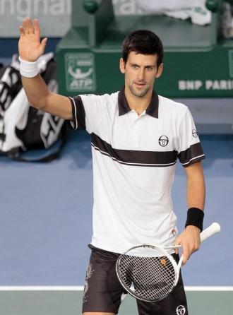 Novak Djokovic durante el pasado Masters 1.000 de Par�s.