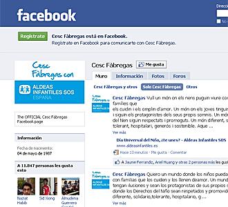 La imagen de perfil de Cesc Fabregas este s�bado en Facebook