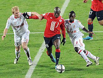 Imagen del partido entre el Lille y el M�naco con victoria local (2-1)