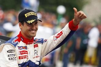 Dani Sordo celebra el triunfo en Monza