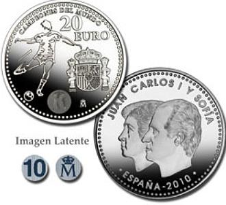 Imagen de la moneda conmemorativa de La Roja