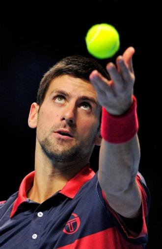 Novak Djokovic durante su partido ante Tomas Berdych.