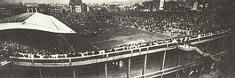 Panorámica del estadio de Les Corts, escenario de los primeros Clásicos jugados en Barcelona.