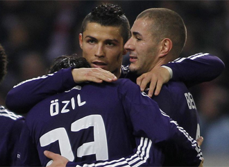 Cristiano celebra un gol ante el Ajax.